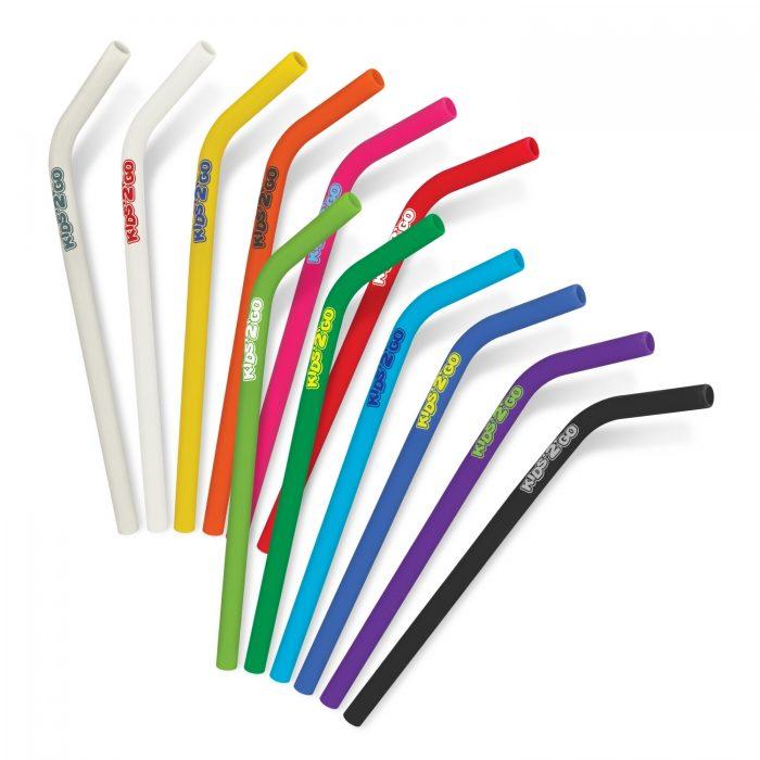 Silicon Straws - Rainbow of Colours!