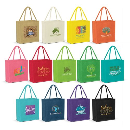 Monza Jute Tote Bag Colour Match (115324)