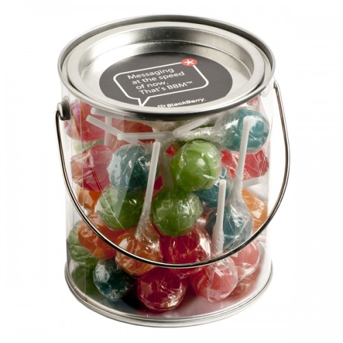 PVC Buckets Filled with Confectionery