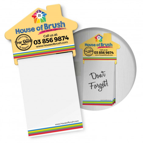 Magnetic House Memo Pad (113367)