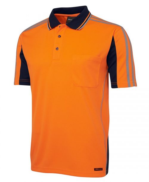 HI VIS S/S ARM TAPE POLO (6AT4S)