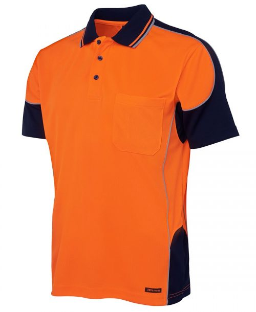 HI VIS CONTRAST PIPING POLO (6HCP4)