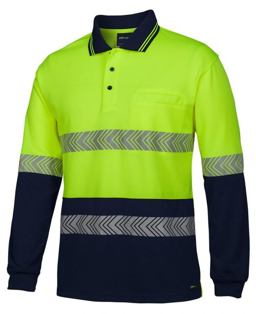 HI VIS L/S SEGMENTED TAPE POLO (6HLST)