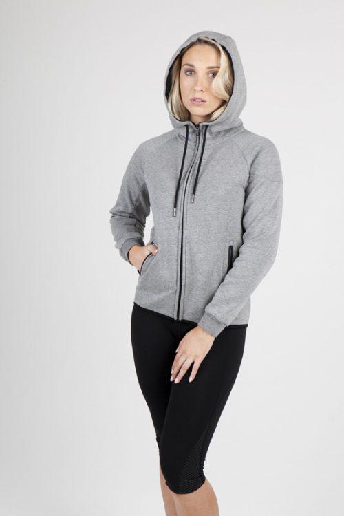 Ladies/junior 320gsm Soft cotton/bonded polar fleece Hoodie (F360UN)