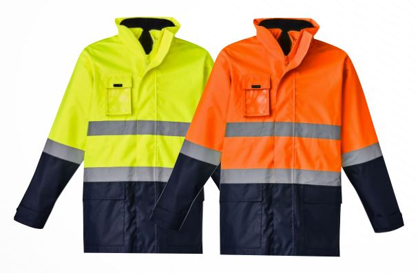 Mens Hi Vis Basic 4 in 1 Waterproof Jacket (ZJ220)
