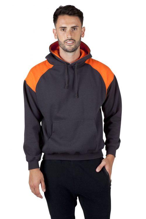 Mens Shoulder Contrast Panel Hoodie (F303HP)