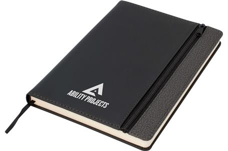 Toronto A5 Notebook,Black/Dark Grey Trim (J6400)